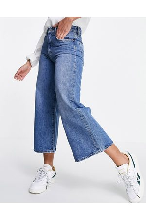French Connection Denim culotte in mid blue