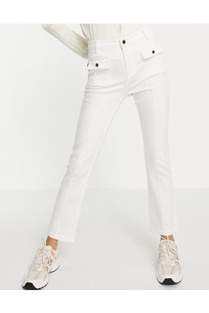 Morgan Slim bootcut jeans with pocket detail in white