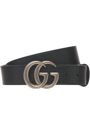 "Gucci Herren Gürtel - 4cm Breiter Ledergürtel ""gg Marmont"""
