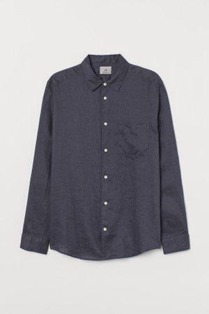 H&M Leinenhemd Regular Fit