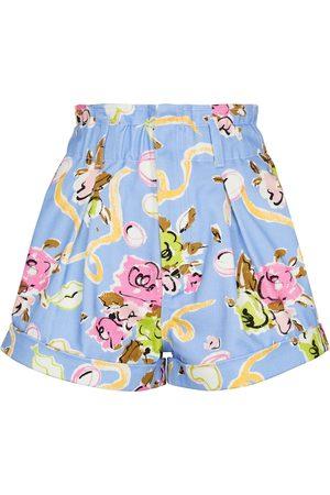 Alessandra Rich Bedruckte Shorts aus Baumwolle