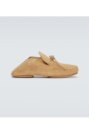 Loewe Paula's Ibiza Loafers aus Veloursleder