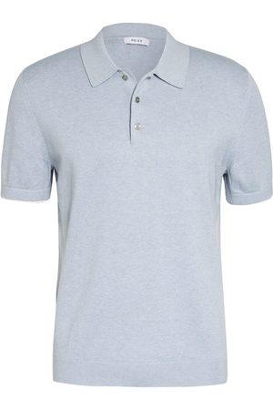 Reiss Herren Poloshirts - Strick-Poloshirt Wilkie blau