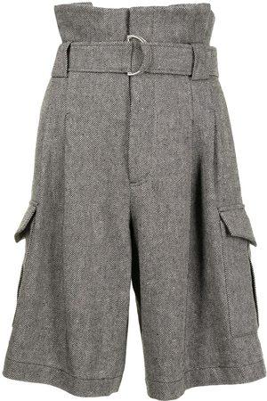 GOEN.J Belted paperbag-waist shorts