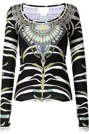 Camilla Zebra jewel print top