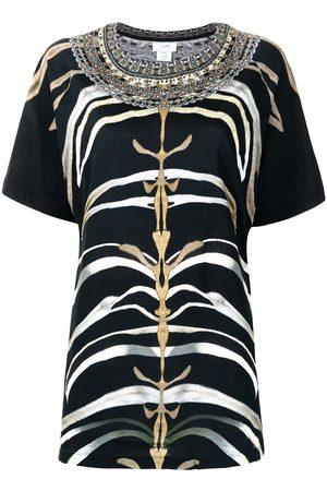 Camilla Zebra-print raglan T-shirt