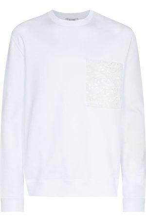 VALENTINO Lace pocket sweatshirt