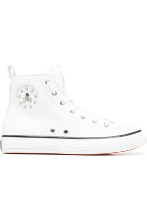 Philipp Plein Damen Sneakers - Leather high-top sneakers