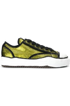 Maison Mihara Yasuhiro Schnürschuhe - Sequin-embroidered lace-up sneakers