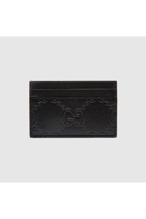 Gucci Herren Geldbörsen & Etuis - Kartenetui aus geprägtem GG Leder