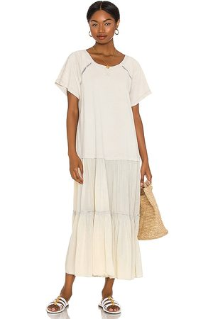 Free People Sun Fade Midi Dress in - Ivory. Size M (also in S, L, XL, XS).