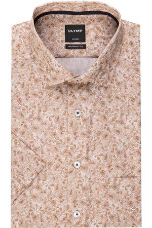 Olymp Halbarm-Hemd Luxor Modern Fit braun