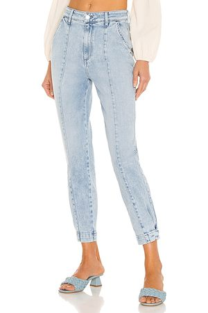 Le Jean Mid Rise Paloma Jogger in - Blue. Size 23 (also in 24, 25, 26, 27, 28, 29, 30, 31, 32).