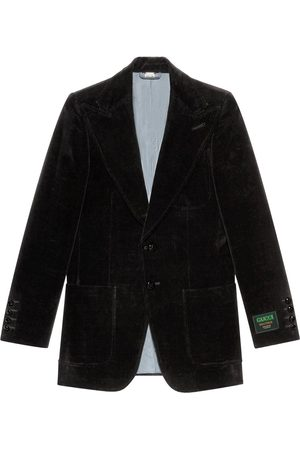 Gucci Velvet single-breasted blazer