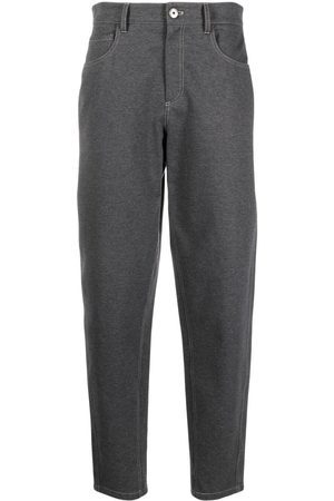 Brunello Cucinelli Damen Hosen & Jeans - High-waist stretch-cotton trousers