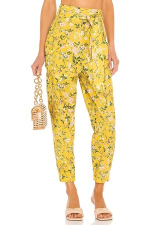 AMUR Lisette Cargo Pant in - Mustard. Size L (also in XS, S, M).