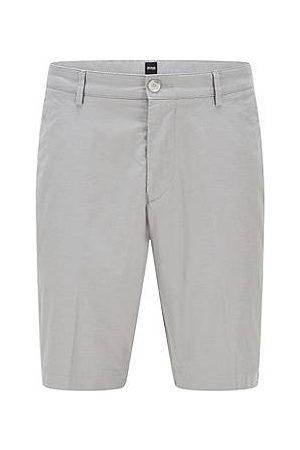 HUGO BOSS Herren Stretchhosen - Slim-Fit Shorts aus Stretch-Baumwolle mit feinem Muster