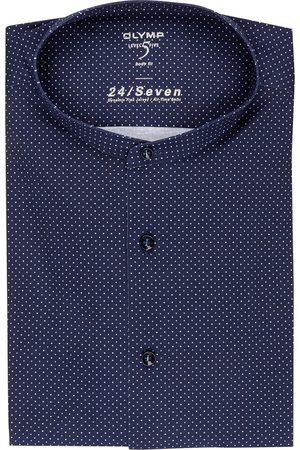 Olymp Jerseyhemd Level Five 24/7 Body Fit Mit Stehkragen blau