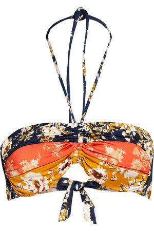 Watercult Damen Bikinis - Neckholder-Bikini-Top Patchwork Florals orange