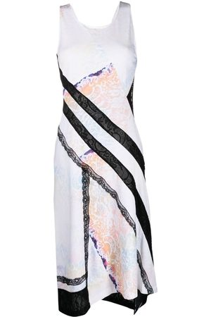 KOCHÉ Mixed-print midi dress