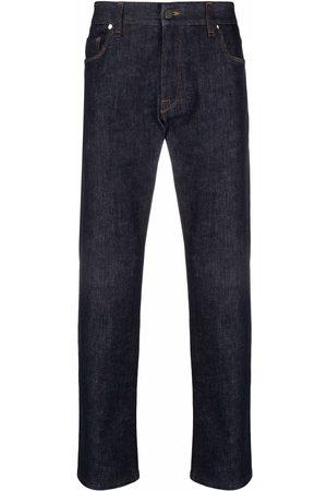 Fendi Raised-logo jeans