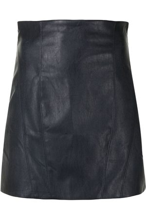 MANNING CARTELL High-waisted leather miniskirt