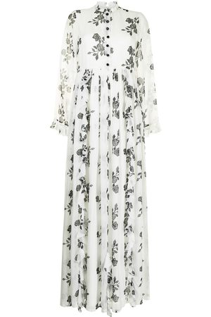 Macgraw Rose ruffle trim long dress