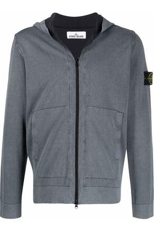 Stone Island Zipped cotton hoodie