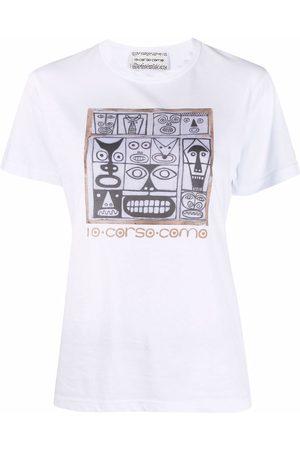 10 CORSO COMO Faces-print cotton T-shirt