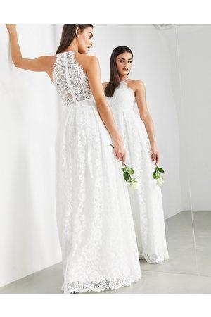 ASOS Amalie lace halter neck maxi wedding dress