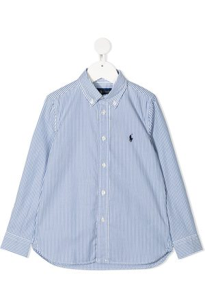 Ralph Lauren Logo-patch stripe shirt