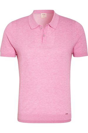 Olymp Strick-Poloshirt Level Five Body Fit rosa