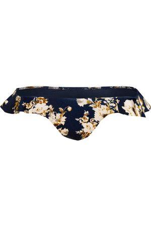 Watercult Damen Bikinis - Bikini-Hose Patchwork Florals blau