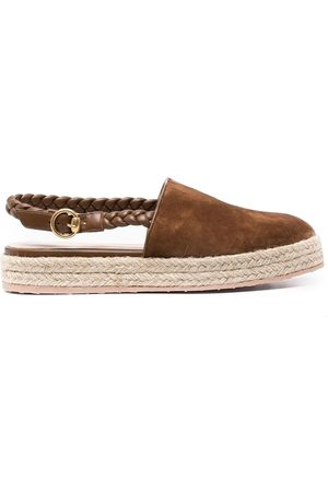 Gianvito Rossi Chunky suede espadrilles