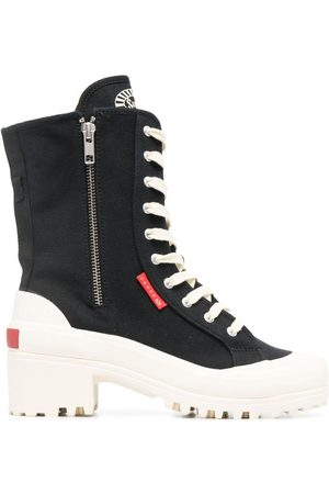 Superga Lace-up platform boots