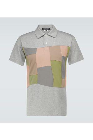 Comme des Garçons Patchwork-Poloshirt aus Baumwoll-Jersey