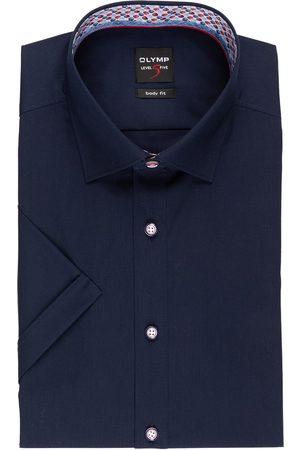 Olymp Herren Business - Halbarm-Hemd Level Five Body Fit blau