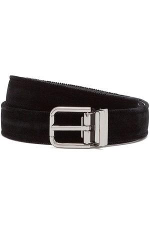 Dolce & Gabbana Herren Gürtel - Velvet leather belt