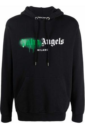 Palm Angels Sprayed logo-print hoodie