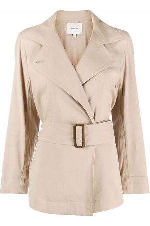 Vince Double-breasted belted blazer