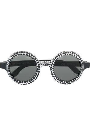 10 CORSO COMO Round-frame wood sunglasses