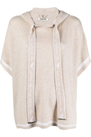 MAX & MOI Damen Ponchos & Capes - Hooded poncho top