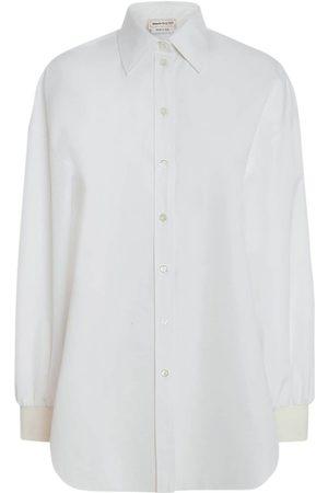 Alexander McQueen Damen Blusen - Hemd Aus Schwerem Popeline