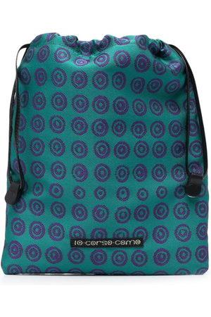 10 CORSO COMO Geometric-print makeup bag
