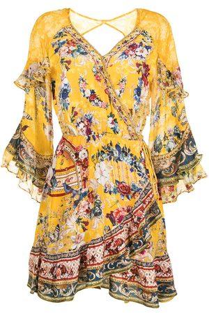 Camilla Floral ruffle shift dress