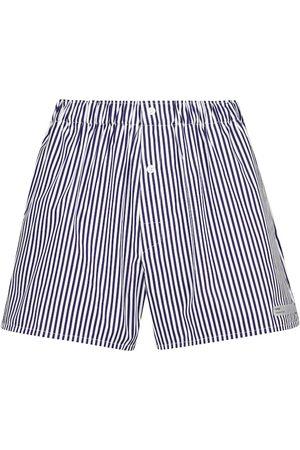 COPERNI Gestreifte Shorts aus Baumwolle