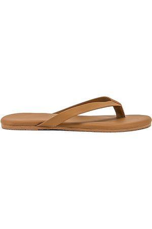 TKEES Damen Flip Flops - The Boyfriend Flip Flop in - Tan. Size 10 (also in 5, 6, 7, 8, 9).