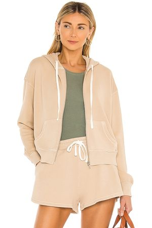 Tularosa Green The Gaia Zip Up Hoodie in - Tan. Size S (also in XS).