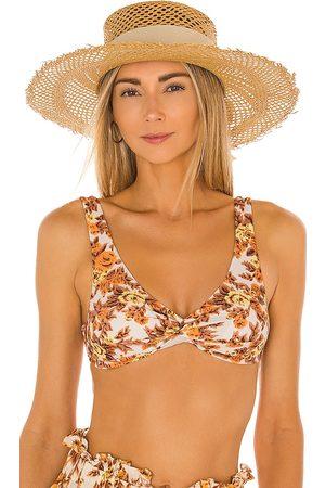 SENSI STUDIO Calado Boater Hat in - Tan. Size all.