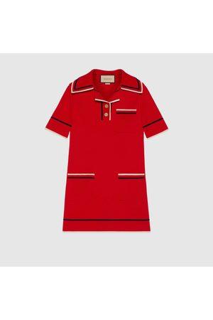 Gucci Damen Strickkleider - Kleid im Polostil aus feinem Baumwollstrick